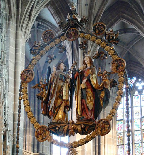 The Annunciation in St. Lorenz Church, Nuremberg, Germany