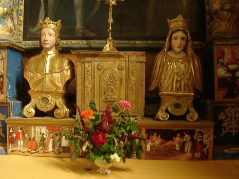 Relics of both Saints in the Church in Ansouis.