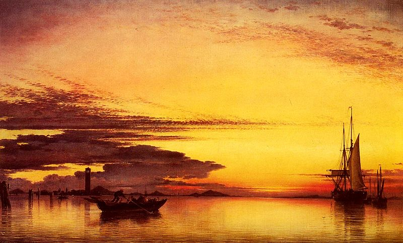 http://commons.wikimedia.org/wiki/File:Sunset_on_the_lagune_of_venice_-_san_georgio-in-alga_and_the_euganean_hills_in_the_distance.jpg