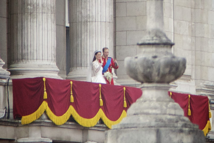 Prince William and the Duchess of Cambridge after their wedding. Photo by Aurelien Guichard
