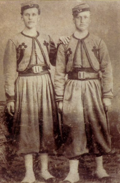 Two Papal Zouave brothers