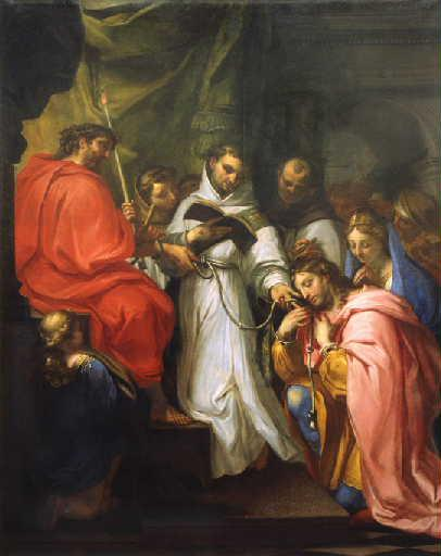 St. Elzéar of Sabran and St. Delphine of Signe presented to Christ by St. Francis of Assisi, by Claude François.