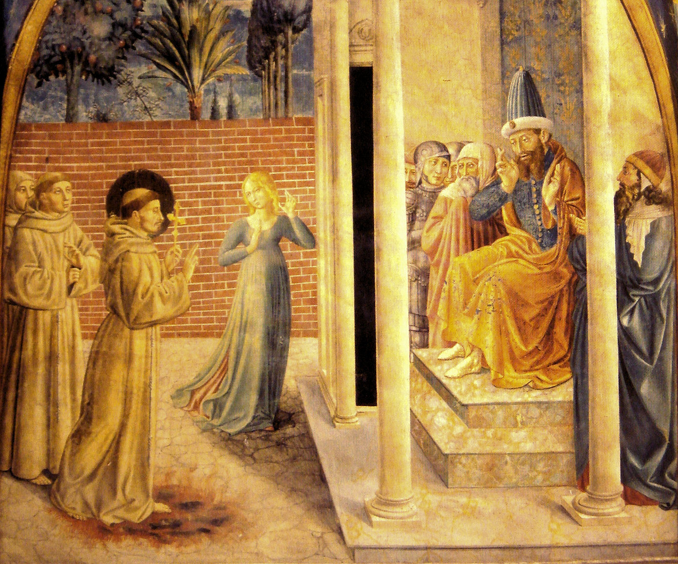 Saint Francis of Assisi with the Sultan Al-Kamil