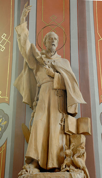 Statue of Saint Francis in the Parish church of St. Ulrich in Gröden - Ortisei