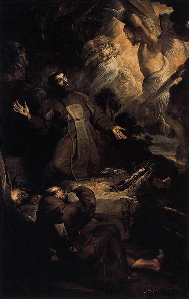 http://commons.wikimedia.org/wiki/File:Peter_Paul_Rubens_-_The_Stigmatization_of_St_Francis_-_WGA20202.jpg