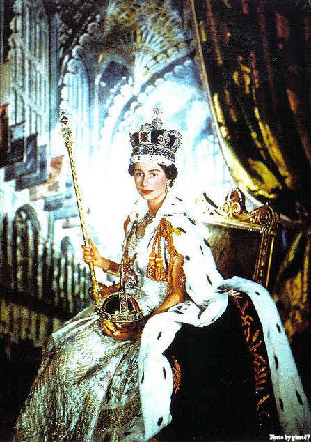 Queen Elizabeth in Coronation Robes 1953