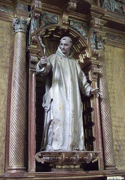 Statue of Saint Bruno of Cologne in Burgos