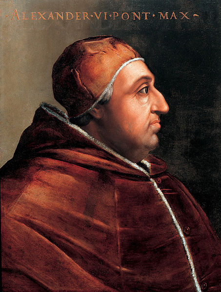 Pope Alexander VI Painted by Cristofano dell'Altissimo