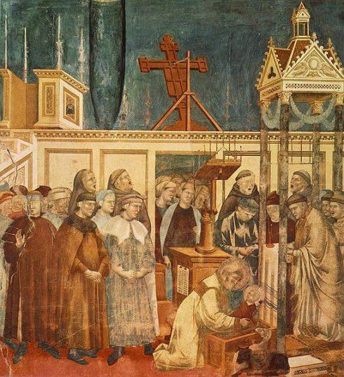 St Francis, Institution of the Crib at Greccio, by Giotto di Bondone