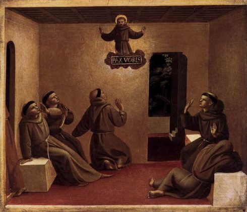 Apparition of St Francis at Arles by Blessed Fra Angelico