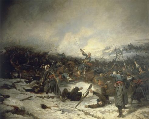 Battle of Loigny-Poupry. Painting by Charles Castellani
