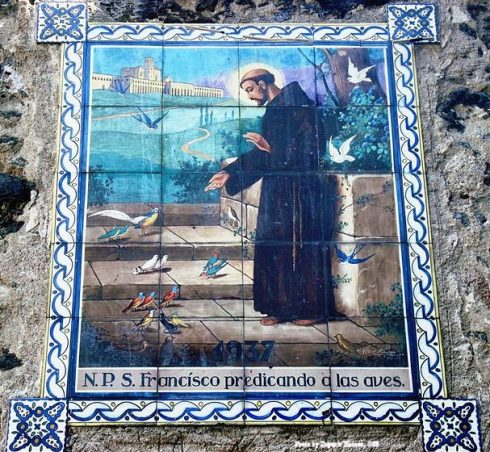 Tiles outside Saint Francis of Assisi Church, Coyoacan, Federal District, Mexico