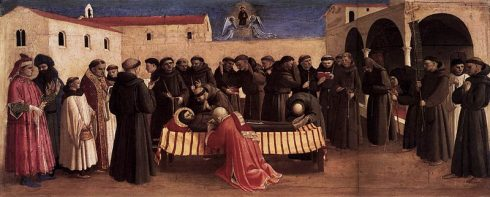 The last blessing of St. Francis