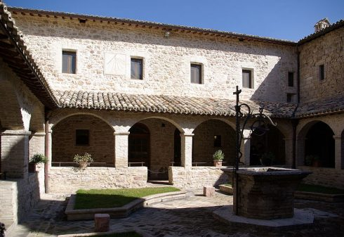 The courtyard of the Convent of San Damiano, Assisi