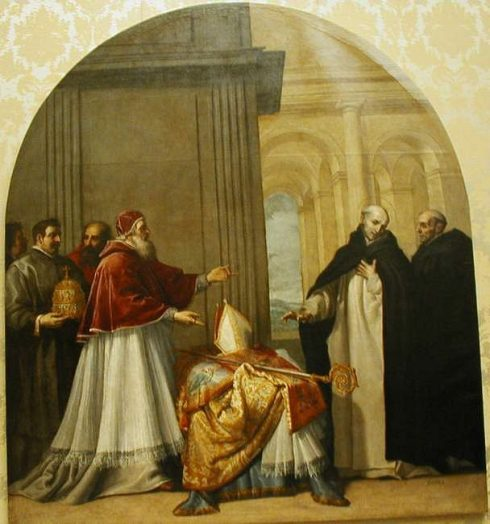 St. Bruno refusing the Archbishopric. Painting by Vicente Carducho