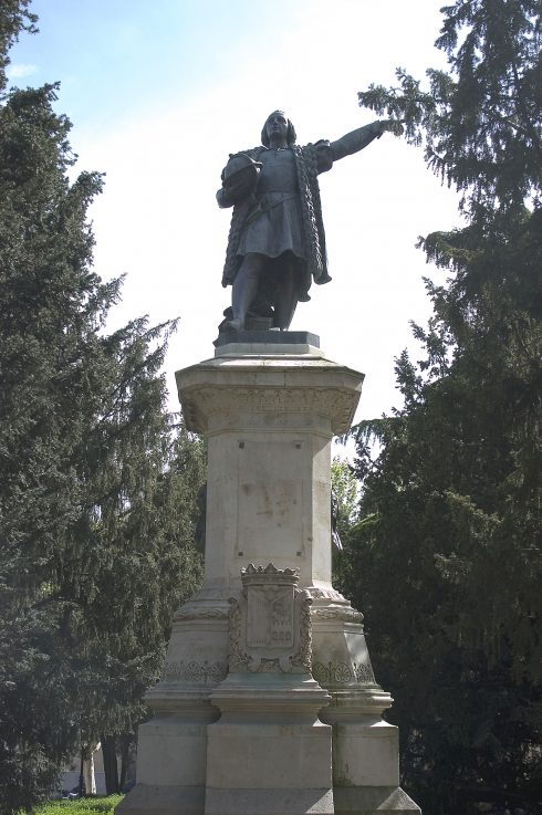 Statue of Christopher Columbus in Spain