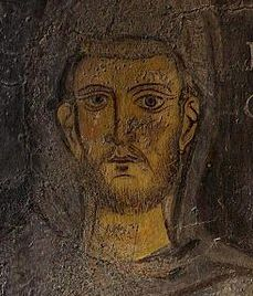 Fresco of St. Francis at Subiaco. Circa 1224. Probably the oldest likeness of St. Francis.