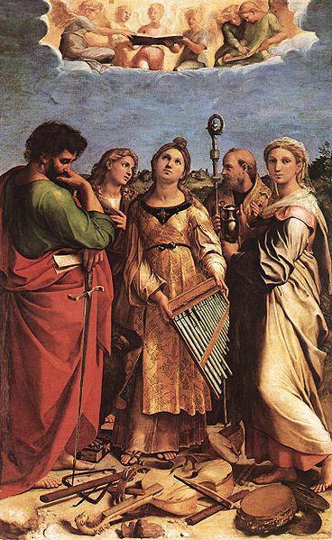 St. Cecilia in Ecstasy by Raffaello Sanzio