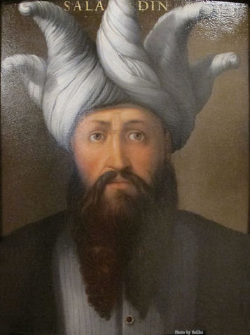 Painting of Saladin by Cristofano dell'Altissimo