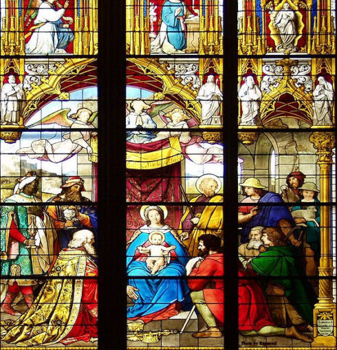 Stainglass window in Cologne Cathedral