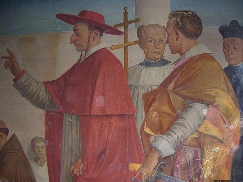A fresco of St. Charles Borromeo in Villasanta