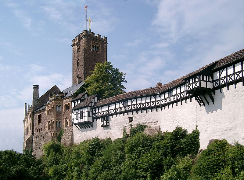 Wartburg Castle where St. Elizabeth lived till she was 17.