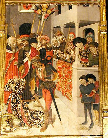The beheading of St. Catherine at the Chapel of Saints Claire and Catherine, Barcelona Cathedral.