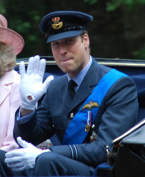 His Royal Highness Prince William of Wales, RAF. Prince William is wearing the uniform of a flight lieutenant. Photo by Robert Payne.