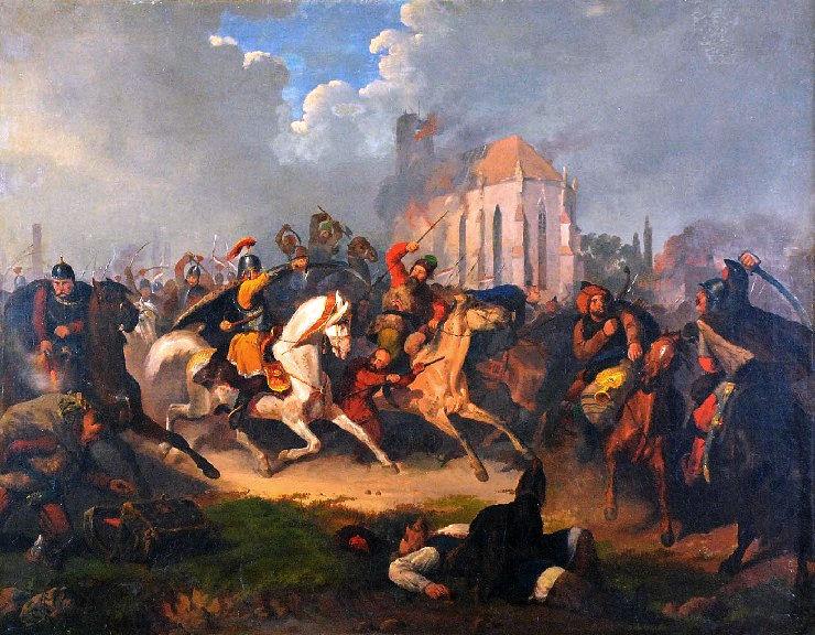 Painting of the Tartars by Artur Grottger