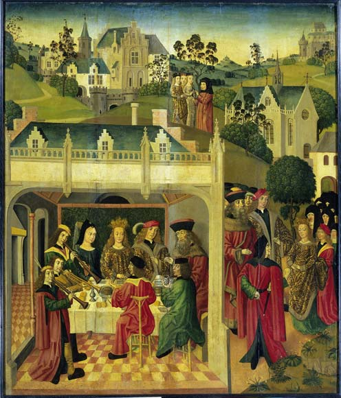 The wedding feast of St Elizabeth and Louis of Thuringia in the Wartburg