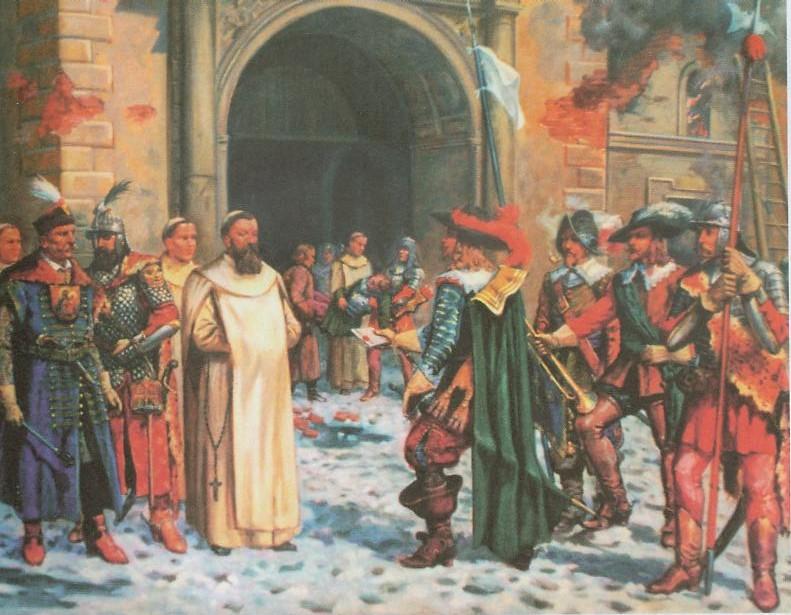 Swedish envoy requesting Fr. Kordecki and his men to surrender.