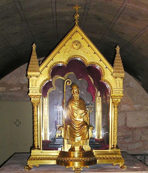Reliquary of St. Hilary in the crypt of Saint-Hilaire le Grand (Poitiers) Church