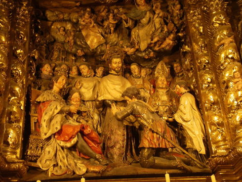 Foundation of the Order of Mercy, part of the center altarpiece of the Cathedral of Barcelona.