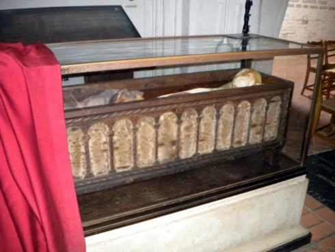 Grave of King St. Canute IV the Holy of Denmark at Odense Cathedral a.k.a. St. Canute's Church