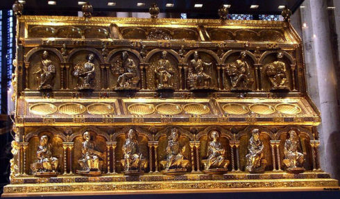 Reliquary in Cologne Cathedral of the Three Kings.