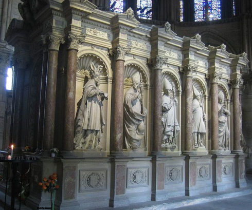 Tomb of St. Remi in the choir of the Basilica of Saint-Remi of Reims