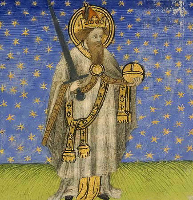 Charlemagne with the halo of holiness