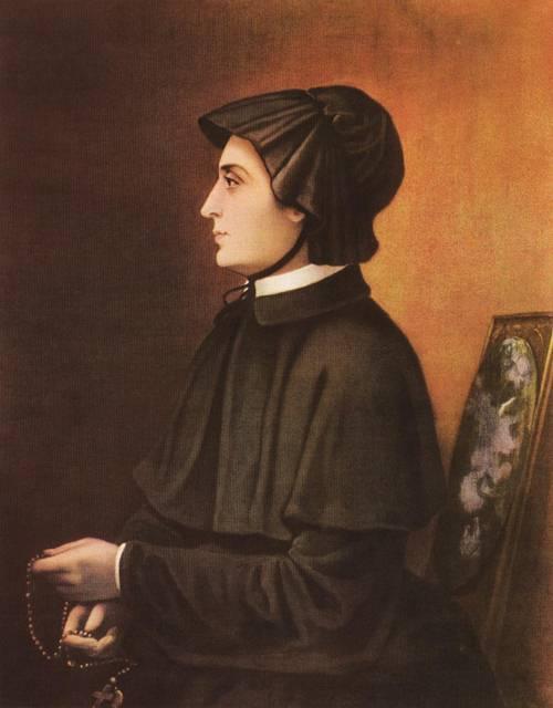 The Filicchi Portrait of St. Elizabeth Ann Seton, dated 1804, artist unknown.