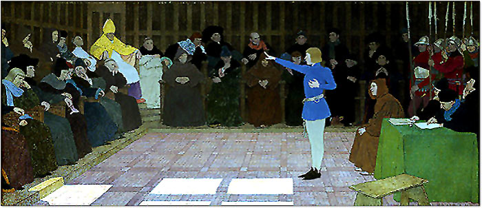 The Trial of Joan of Arc, Painting by Louis Boutet de Monvel
