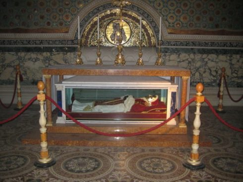 The incorrupt body of Pope Pius IX