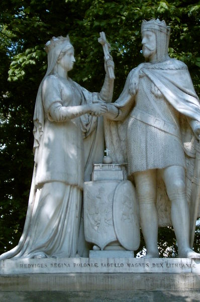 Queen Jadwiga and Jagiełło Monument in Kraków, Poland