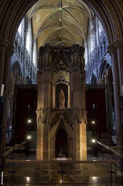 Shrine of Saint Werburga inside the Chester Cathedral