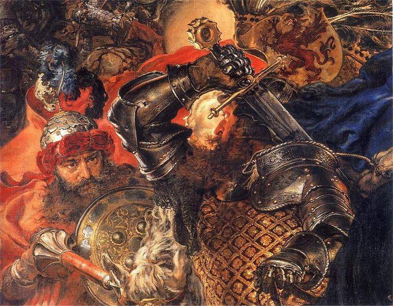Battle painting by Jan Matejko