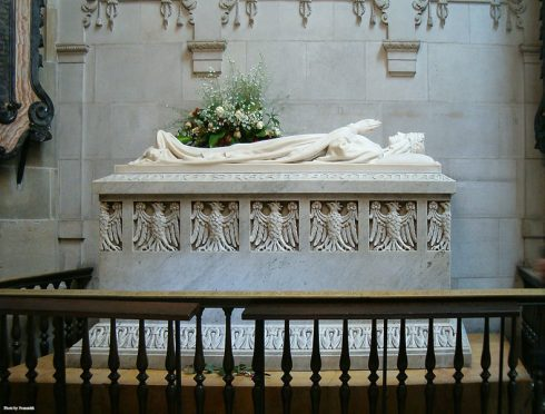 Tomb monument of Queen Jadwiga of Anjou in the Wawel Cathedral
