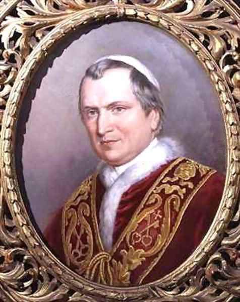 Portrait of Pope Pius IX, Giovanni Maria Mastai Ferretti. Painted by Theodor Breidwiser