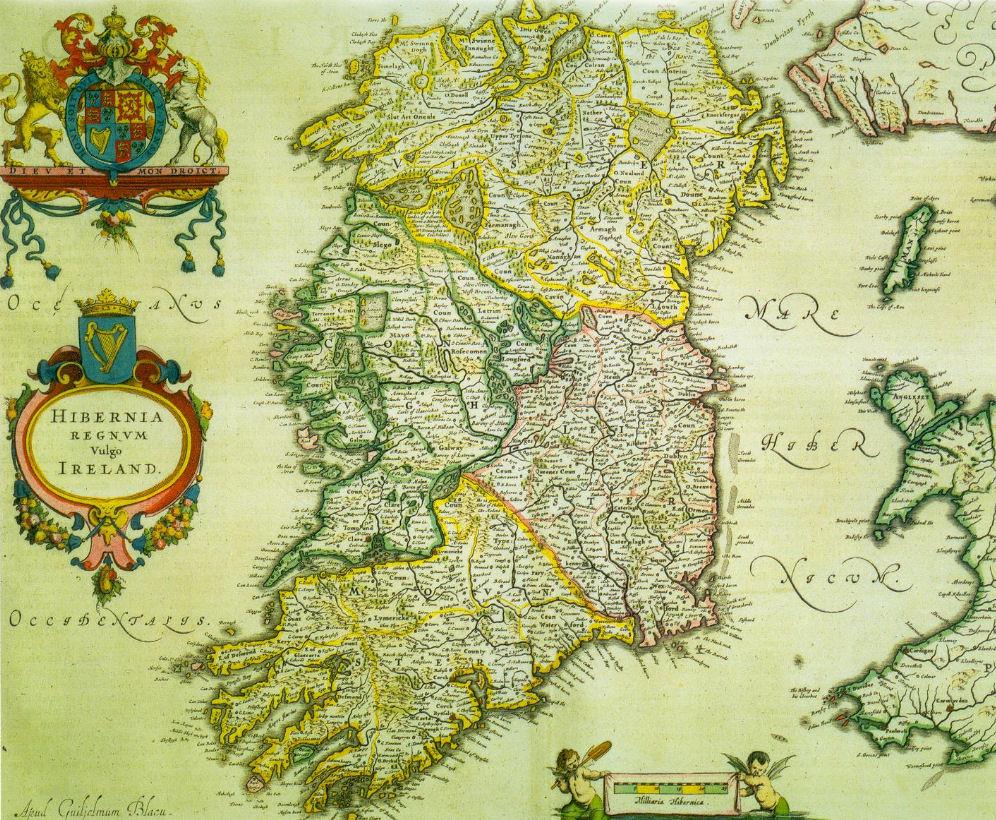 1635 Ireland Map