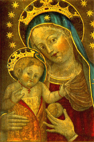 Painting by St. Catherine of Bologna