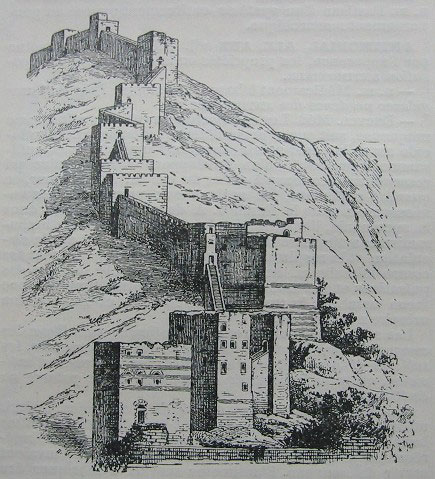 Walls of Antioch drawing by T.A. Archer
