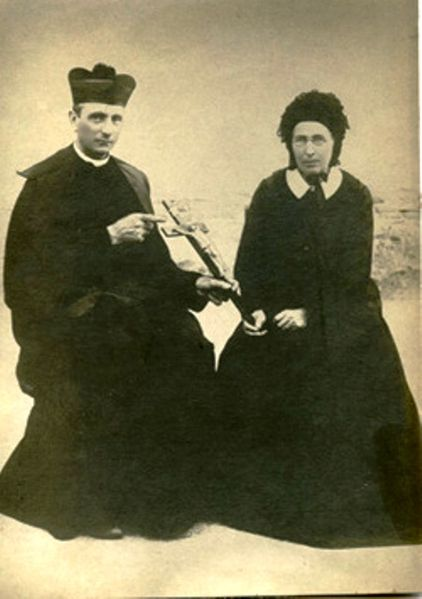 St. Hannibal, pictured here with Françoise Mélanie Calvat, one of the seers of Our Lady of La Salette.