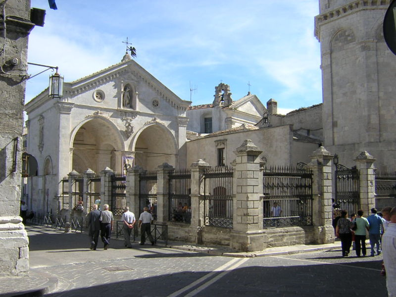 The Sanctuary of Monte Sant'Angelo sul Gargano, sometimes called simply Monte Gargano.